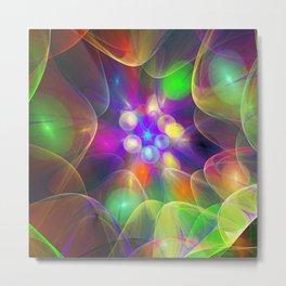 Colourful Light bulbs, fractal abstract Metal Print