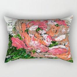 Phantom - Floral - Piano notes Rectangular Pillow