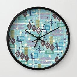 Retro Mid Century Modern Atomic Abstract Pattern 245 Wall Clock