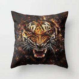Tiger Roar Throw Pillow