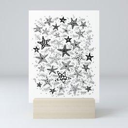 Stars of the Sea BW Mini Art Print