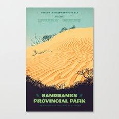 Sandbanks Provincial Park Poster Canvas Print