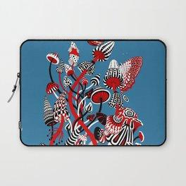 Magic Mushroom Red black blue Laptop Sleeve