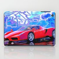 ferrari iPad Cases featuring Ferrari Enzo by JT Digital Art