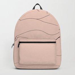 Pink Mountains Minimal Backpack