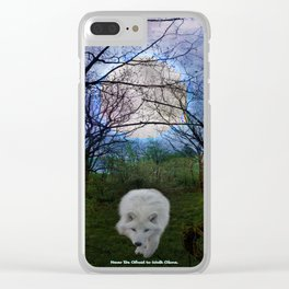 Never be Afraid to Walk Alone Clear iPhone Case