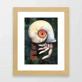 The keen finger Framed Art Print