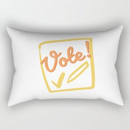 Vote - Democracy needs you! Rectangular Pillow