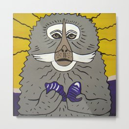 Dreaming of a better place: Marcel the monkey Metal Print