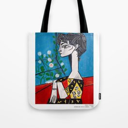 Pablo Picasso Jacqueline With Flowers 1956, T Shirt, Artwork Tote Bag