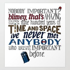 Doctor Who Hand-lettered Illustration Art Print