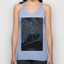 Queens Black Map Unisex Tank Top