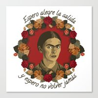 frida Canvas Prints featuring FRIDA by badOdds