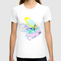 postcard T-shirts featuring Alien Postcard by Viga Victoria Gadson