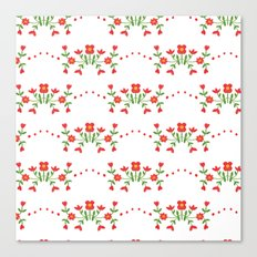 Small floral kitchen collection white Canvas Print