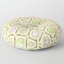 Mochi Kochi | Pattern in Yellow Floor Pillow