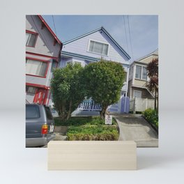 Slanted Houses IV Mini Art Print