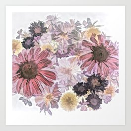 Wintry Bouquet Art Print