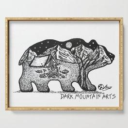 """Wander Bear"" Hand-Drawn by Dark Mountain Arts Serving Tray"