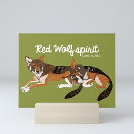 Red Wolf Spirit #2 Mini Art Print