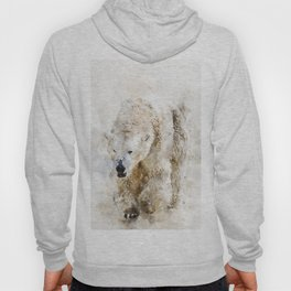 Abstract watercolor polar bear Hoody