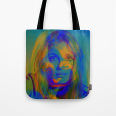 Sharon the blue mix Tote Bag