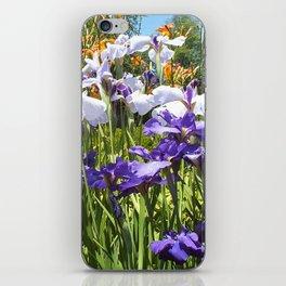 Irises n daylilies iPhone Skin