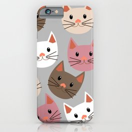 Cute Cat Faces iPhone Case