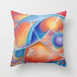 faraway worlds. mundos distantes Throw Pillow