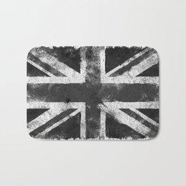 Black and white England Grunge flag Bath Mat