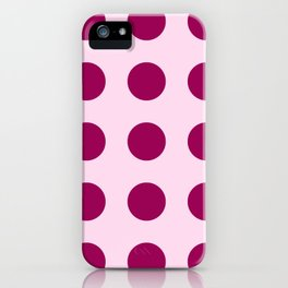 Happy Place Large Polka Dots in Pink iPhone Case