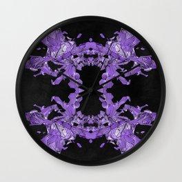 crash kaleidoscope Wall Clock