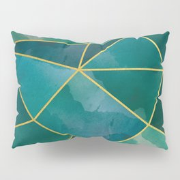 Shattered Emerald Pillow Sham