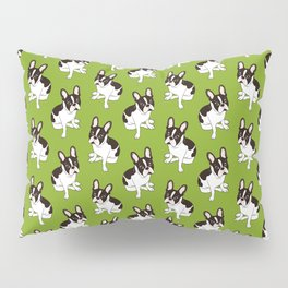 Cute double hooded pied French Bulldog wants your attention Pillow Sham