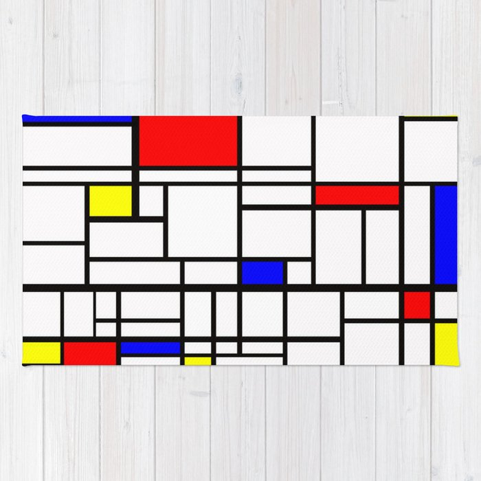 mondrian inspired rug by phxazsteve society6. Black Bedroom Furniture Sets. Home Design Ideas