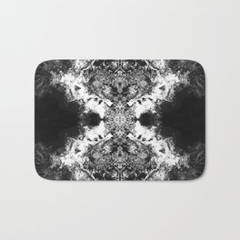 Black Gatria- Abstract Costellation Painting. Bath Mat