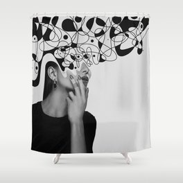Abstraction - version 6. BW Shower Curtain