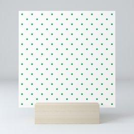 Small Green Polka Dots Mini Art Print