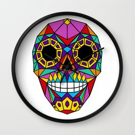 Mexican Skull - Day of the Dead - Colourful Wall Clock
