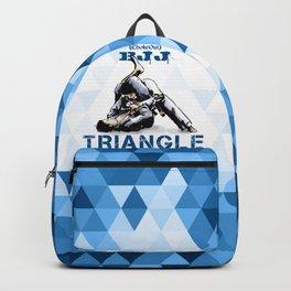 Blue Bjj Triangle choke. Jiu-jitsu grappling Backpack