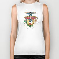 art history Biker Tanks featuring History Friends by The Cracked Dispensary