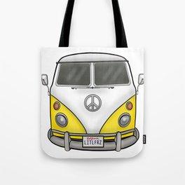 Yellow Camper Van - Hippie Bus Tote Bag