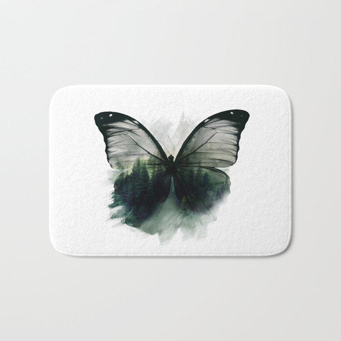 Double Butterfly Bath Mat