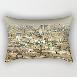 Aerial View of Lima Outskirt, Peru Rectangular Pillow
