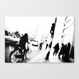 Berlin's streets in black and white Canvas Print