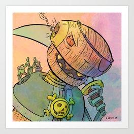 Robot Pirate Art Print