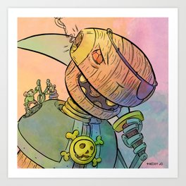 Robot Pirate Art Print