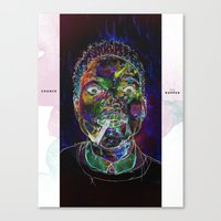 chance the rapper Canvas Prints featuring Chance the Rapper by Zach Hoskin Art + Design