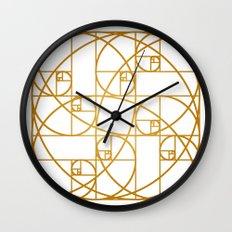 Golden Ropes Wall Clock