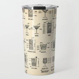 COCKTAIL poster, cocktail chart print Travel Mug